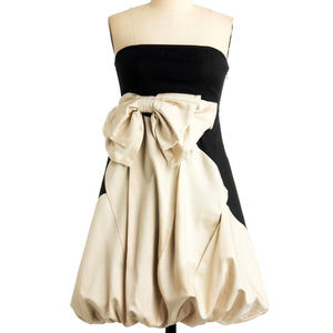 RYU BOW FRoNT BuBBLE PUFF SKiRT PaRTy DRESS S M L